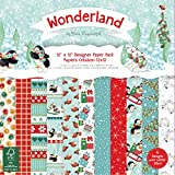 Helz Cuppleditch Wonderland Navidad papel cartulina Pack, multicolor, 30,5 x 30,5 cm