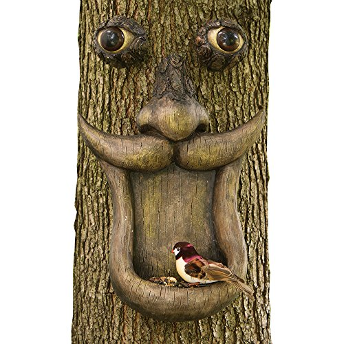 Bits und Teile-Baum Face Vogelfutterstation-Outdoor Tree Hugger Skulptur-Skurril Garten Dekoration und Wild Vogelfutterstation