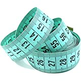 "Bobury 150cm / 60 ""Body Measuring Ruler Couture Tailor Mesure à ruban Soft Flat (couleur aléatoire)"