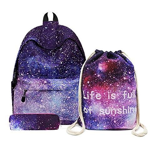 Artone Unisex Sternenklar Galaxis Universum Rucksack mit Kordelzug Tasche und