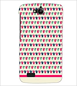 PrintDhaba Elephant pattern D-1574 Back Case Cover for HUAWEI HONOR HOLLY (Multi-Coloured)