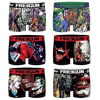 FREEGUN – Lote de 6 bóxers para Hombre DC Comics The Joker