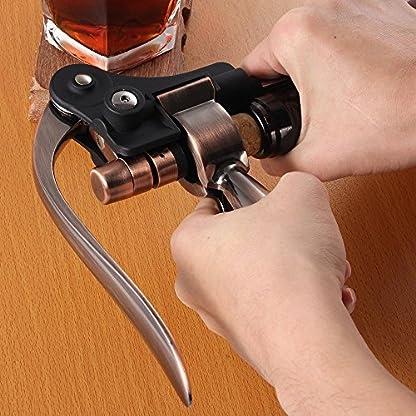Weinffner-Smaier-Kaninchen-Stil-Kellner-Korkenzieher-Wein-Flaschenffner-und-Bonus-Folienschneider–Bar-Wein-Accessoires-und-Geschenke