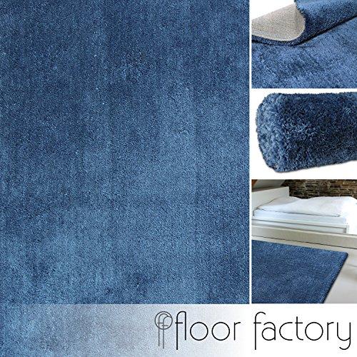 Floor factory tappeto pelo lungo shaggy cosy blu 160x230 cm - 13 colori 5 taglie