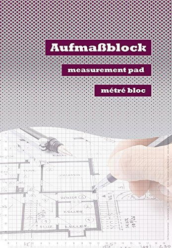 Aufmaßblock / Handwerkerblock / Skizzenblock / Planungsblock / 2-Stück / international