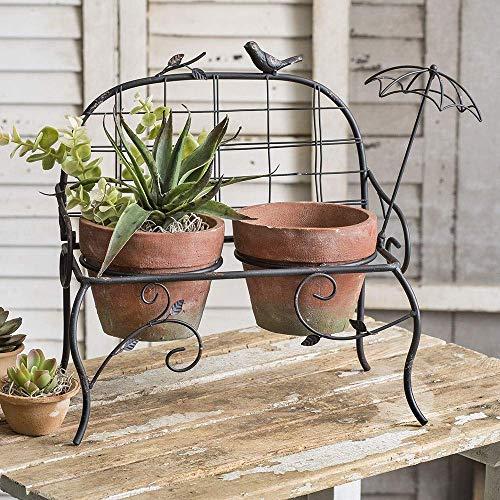 CTW Home Collection Gartenbank mit Terra Cotta Töpfchen