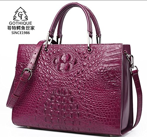 lpkone-Motif Crocodile sac, sac à main femmes Purple