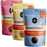 The Butternut Co. Energy Balls Variety Pack (Almond Butter & Oats, Peanut Butter & Berries, Chocolate & Orange) Dates, Dried