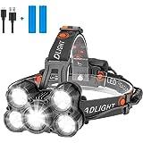 Eletorot Hoofd Zaklamp USB Oplaadbare Koplamp Super Heldere 1000 Lumen Zoomable Koplamp met 4 Werkmodi Lichtgewicht Waterdich
