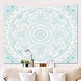 HOTNIU Mandala Tapisserie Wandbehang - Wanddecke Wandkunst Wanddekor Mandala Tapisserien - Wandbehang Wohnkultur für Wohnzimmer Schlafzimmer Dorm Zimmer (Muster # 1, 150 * 230cm)