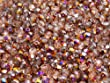 100pcs Tch�que facettes perles de verre, Fire-Polished Beads, ronde 4mm Crystal Sliperit