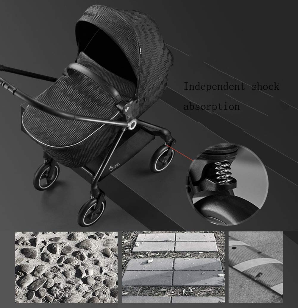 XUE Stroller, 360 Rotating 6kg Four-Wheel Steering Carbon Fiber Frame With 5-Point Safety Harness Multi-Position Reclining Seat Large Storage Basket XUE ∵ Wipeable and washable design for easier cleaning. ∵ Convertible high chair becomes booster and toddler seat. ∵ Keeps little ones secure with 3-point and 5-point harnesses. 5