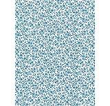 Klebefolie Möbelfolie blaue Blümchen Streublumen Leah 45 cm x 200 cm Dekorfolie Selbstklebefolie