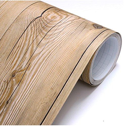 (Abziehen & Aufkleben Duett Vintage braun Holz Panel Muster Kontakt Papier selbstklebend abnehmbarer Tapete 22345: 1.64Füße X 25Füße)
