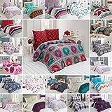 BUYMAX Bettwäsche Set 200x220 cm, Kopfkissenbezug 80x80 cm 3 teilig Bettgarnitur Deckenbezug Baumwolle mit Reißverschluss Oeko-Tex