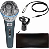MX Dynamic Beta58 Mic Cardioid Vocal Multi-Purpose Microphone XLR to1/4-inch Cable