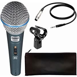 MX Dynamic Beta58 Mic Cardioid Vocal Multi Purpose Microphone XLR to1/4 inch Cable