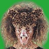 Leoparden Perücke für Erwachsene Raubkatze Tier Tierperücke
