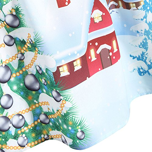 CharMma Damen Weihnachten Übergröße Spitzen Ärmellos Party Vintage Midi Kleid Rot