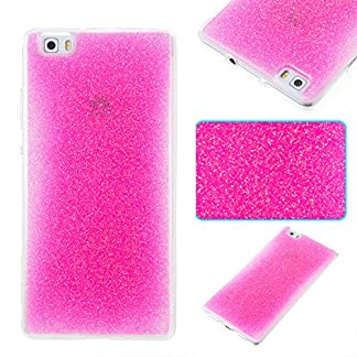 COZY HUT Huawei P8 Lite Gel Case, Sparkle Luxury Bling Glitter Soft Acrylic TPU Bumper Phone Case Protective Shell Cases Covers for Huawei P8 Lite - Pink 14