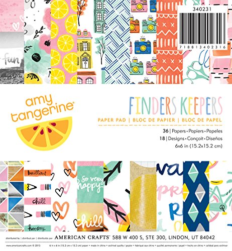 American Crafts American Crafts Papier Pad 6 x 6 36/pkg-amy Tan Finder Keepers, andere, mehrfarbig
