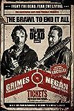 Poster The Walking Dead - Grimes vs Negan Andrew Lincoln, Jeffrey Dean Morgan