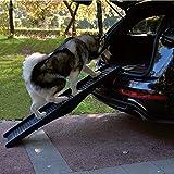 Dog Pet Ramp Plastic Folding Lightweight Bi Fold Strong Travel Transport Car Van
