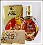 Dimple Golden Selection Blended Scotch Whisky mit 45 DreiMeister Edel Schokoladen im Holzkistchen, kostenloser Versand