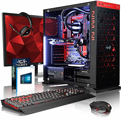 VIBOX Gaming PC - Species-X RXR780-76 Package - 4.0GHz i7 10-Core CPU, AMD Radeon RX 480, Extreme, Water Cooled, Desktop Computer with Game Bundle, 28