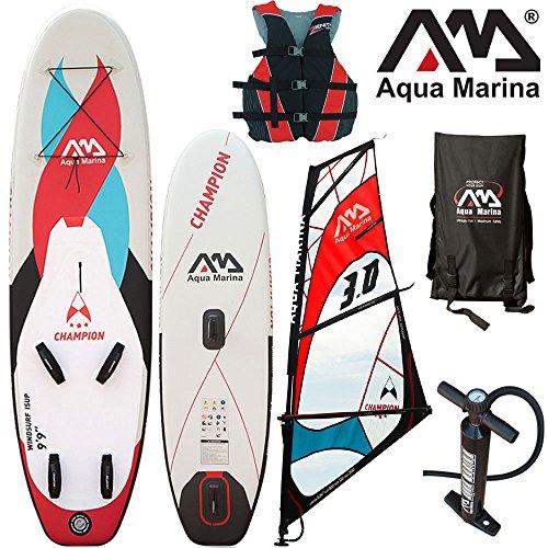 "Aqua Marina CHAMPION 9'9"" Windsurf Combo / Zum Windsurfen und Stand Up Paddeln geeignet / aufblasbar"