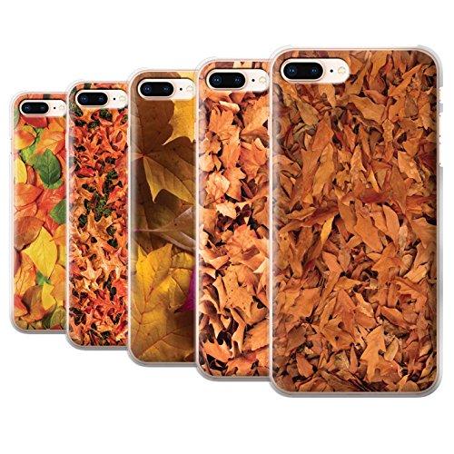 Stuff4 Hülle / Case für Apple iPhone 8 Plus / Gemischt/Violett Muster / Herbstblätter Kollektion Pack 5pcs