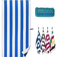 Amazon Brand - Eono Microfiber Beach Towel 180x90cm - Extra Large Quick Dry Swimming Towel Oversized, Super Absorbent…