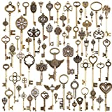 69 Pcs accesorios de clave de esqueleto de bronce antiguos de la vendimia fijados DIY collar colgante de la joyería hecha a mano