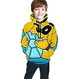 maichengxuan Mikecra-CK Impresión Digital 3D de Moda, Suéter con Capucha para Adolescentes Sudadera con Capucha Cómoda para N