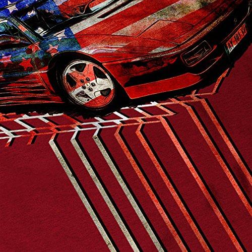 USA Sport Rennen Auto UNS Rennen Damen Schwarz S-2XL Muskelshirt   Wellcoda Rot
