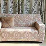 Sofa slipcover elástico,Cubierta del sofá estampado floral Sofá establece combinación simple de la vida pastoral del sofá chaise moderno protector de los muebles, para 1 2 3 4 c...