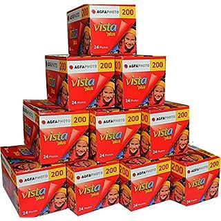 10 pack Agfa Vista 200 35mm 24 exposure Cheap 35mm Colour Print Camera Film