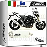 Arrow Kit Auspuff Hom Racetech Aluminium White Suzuki GSR 75020151520161671776AOB + 71442Ich