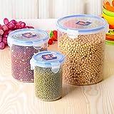 xiduobao libre de BPA recipiente para alimentos contenedor para lavavajillas y microondas Alimentos Caja de almacenamiento de contenedores, tamaño de Differnt, juego de 3piezas.