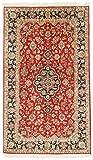 Nain Trading Kaschmir Reine Seide 164x96 Orientteppich Teppich Beige/Rosa Handgeknüpft Indien