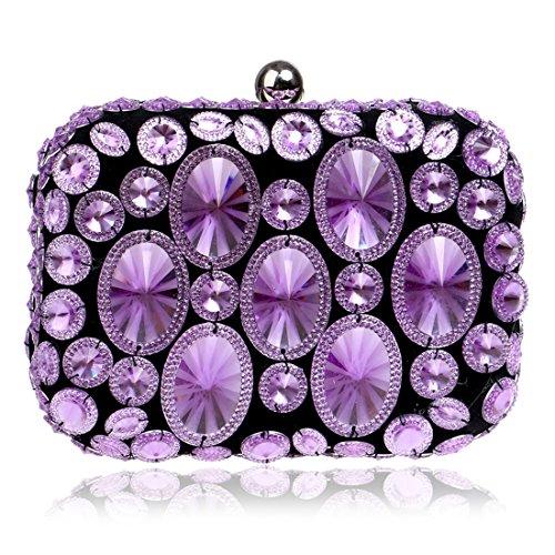 SSMKHandbag - Boesa da sera Donna Purple