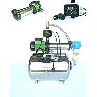 Hauswasserwerk Edelstahl/INOX 100 Liter + Vorfilter mit Kreiselpumpe HMC10S 2200 Watt INOX 5400l/h - 90l/h - Förderh…
