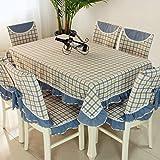 vbimlxft - Mediterrane Tuch rechteckigen quadratischen Gitter Tischdecke staubdicht Tischabdeckung für Küche Dinning Tabletop Dekoration Tischdecke (Farbe : B, größe : 150x150cm)