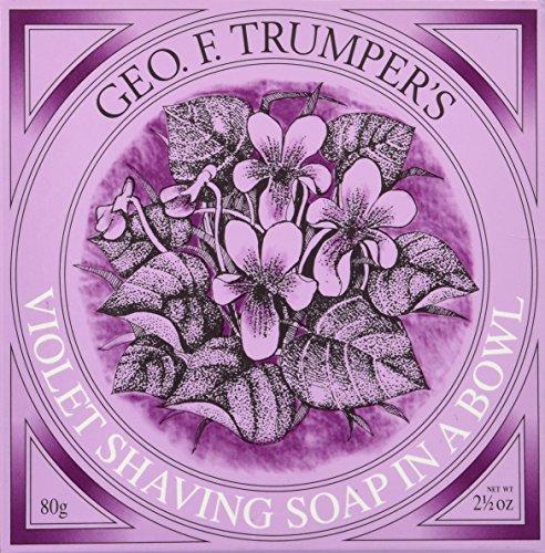 Geo F Trumper Violet Shaving Soap Wooden Bowl
