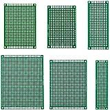 eBoot 6 Tamaños 30 Piezas Placa de Circuito Impreso de Prototipo Placa PCB de Doble Cara para DIY