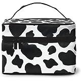 منظم حقائب مستحضرات التجميل للسفر مع مقبض حقائب أدوات الزينة للنساء والفتيات, , Cow Print - C005-cosmeticbag-165315941