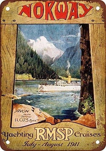 1911rmsp Yachting törns Norwegen Vintage Look Reproduktion Metall blechschild 30,5x 45,7cm