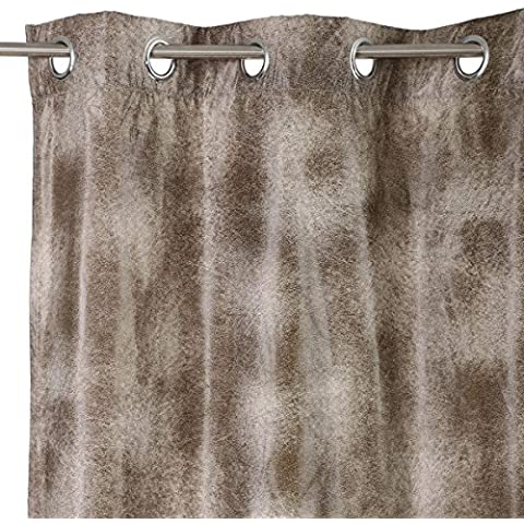 Cortina de 140x260 clásica gris de poliéster para dormitorio Factory - Lola Derek