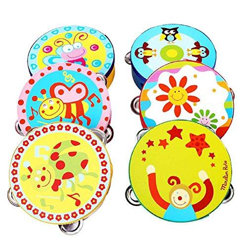 handbell bambino, FEITONG nuovo percussioni regalo jingle di tamburello giocattolo strumento musicale