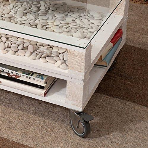 castagnetti 1928 pallet tavolino doppio rettangolare rovesciato con vetro legno abete prezzi. Black Bedroom Furniture Sets. Home Design Ideas